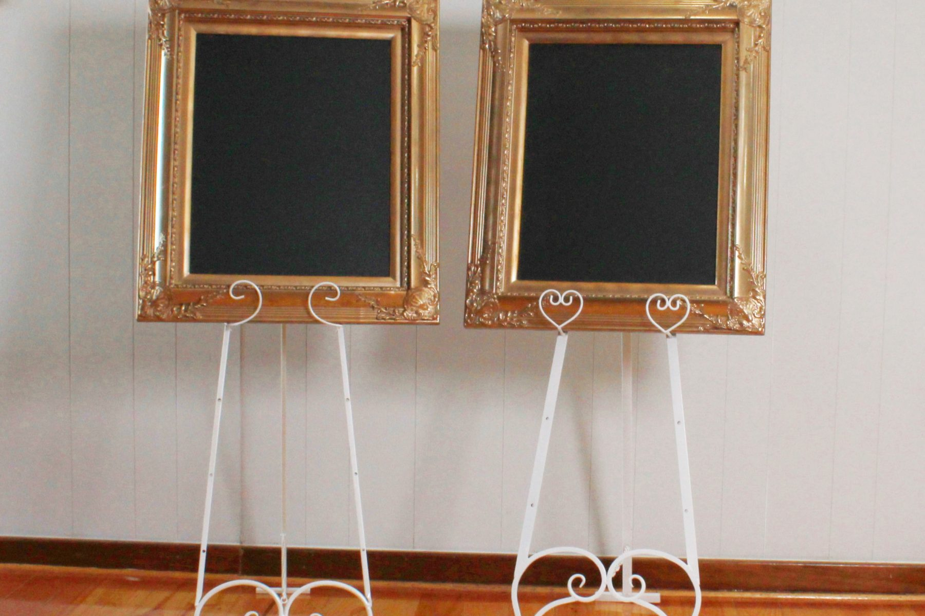 blackboards pair on easel