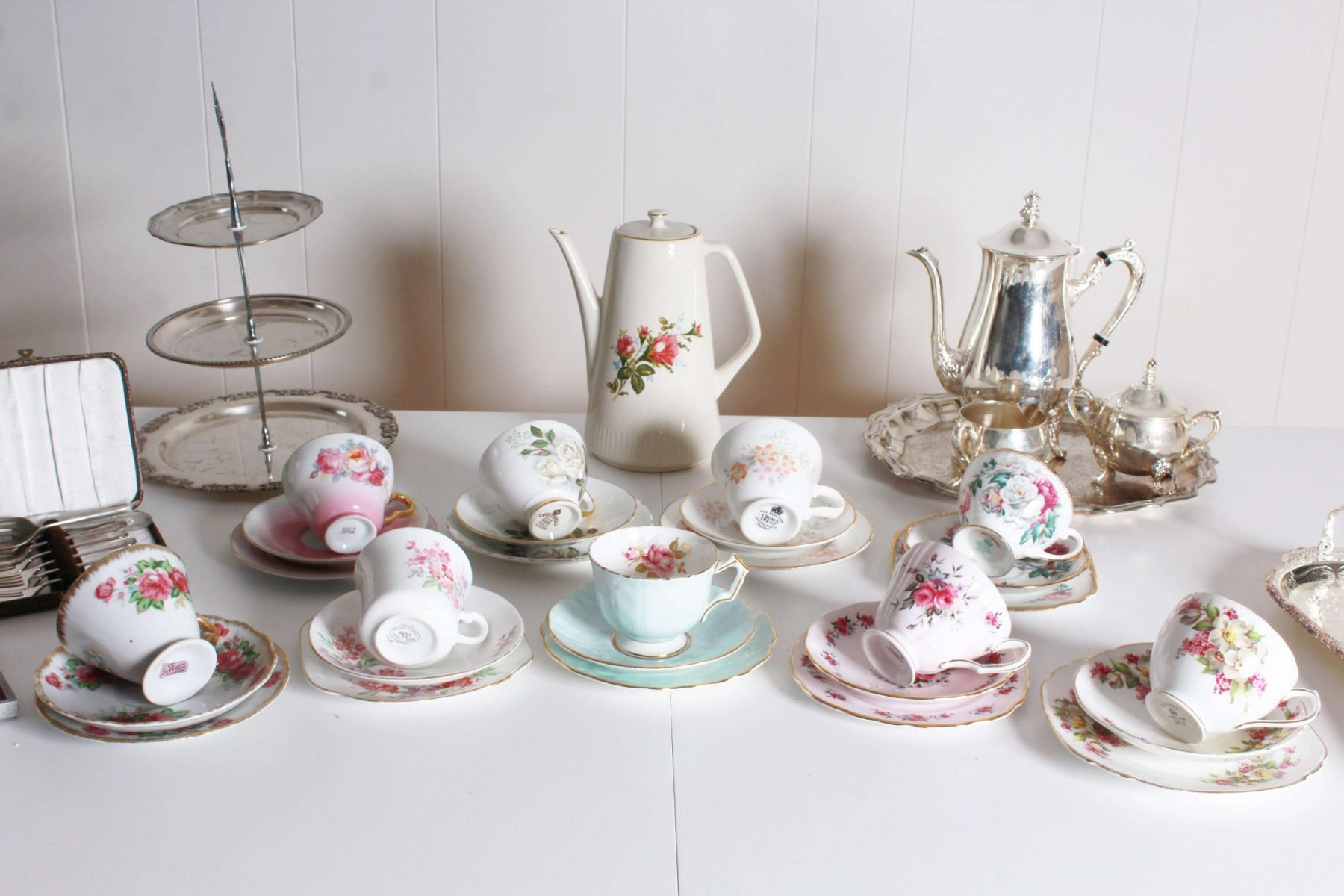 high tea cups