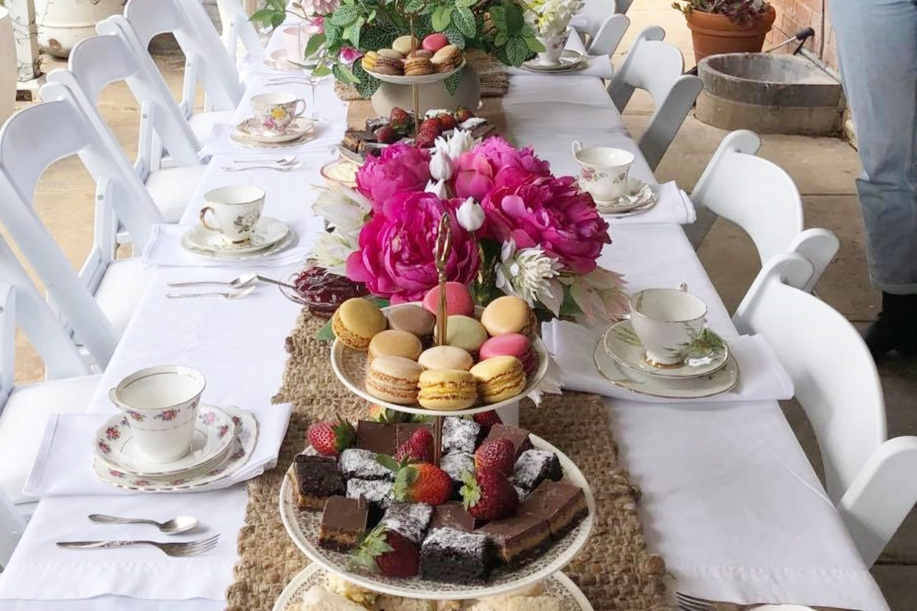 high tea setup
