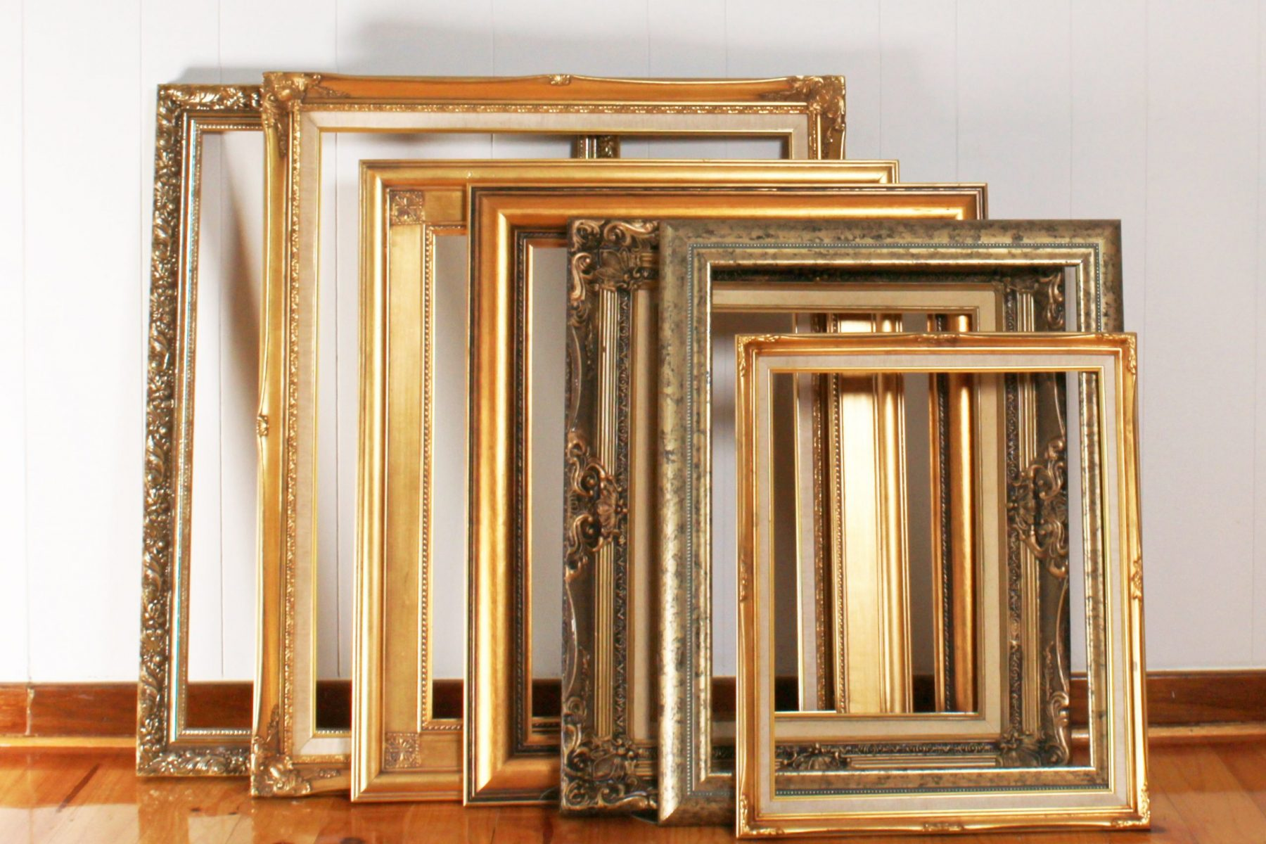 photo frames in row