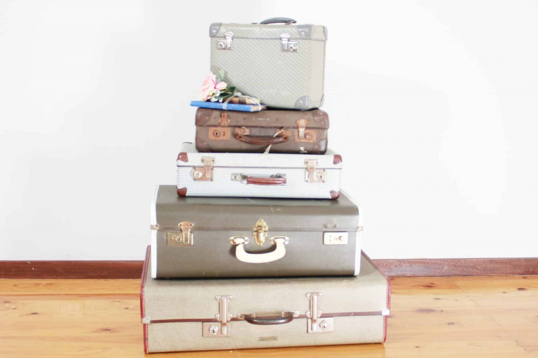 suitcase stack w flowers 2